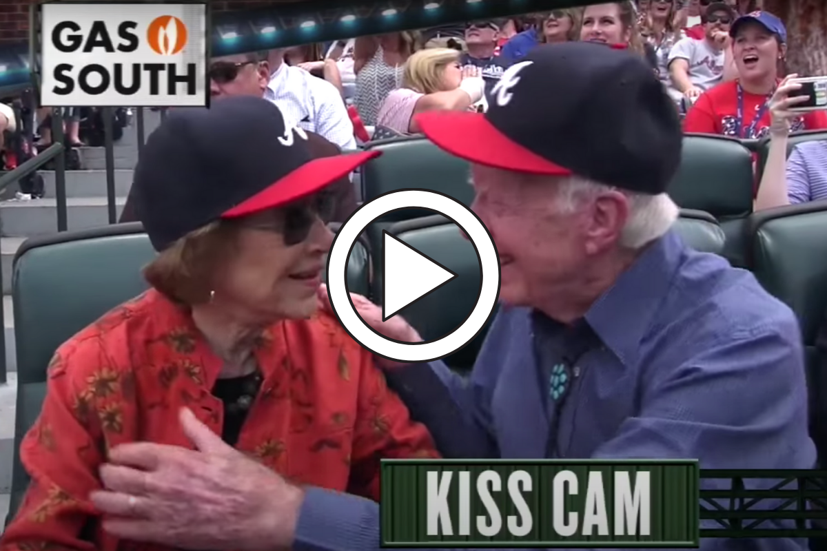 "President Jimmy Carter Smooching on ""Kiss Cam"" Never Gets Old"