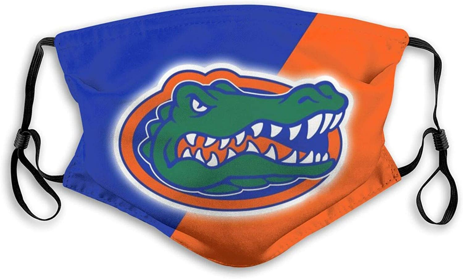 Littlearth Florida Gators Face Cover Reusable Mouth Adjustable Guard for Adult Bandanas Balaclava NeckGaiter with 5 Layers Activated Carbon Filter Medium