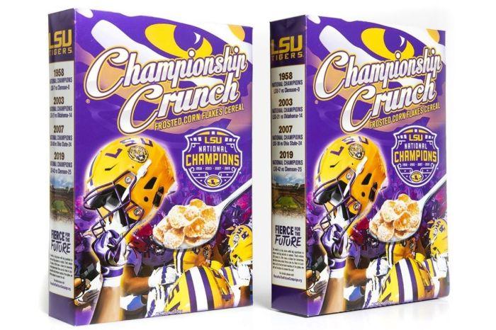 LSU National Championship Cereal Gives 'Breakfast of Champions' a New Meaning