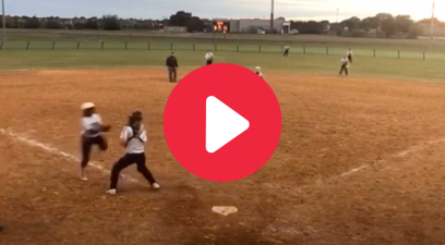 Softball Player Jump Kicks Catcher, But Still Called Safe