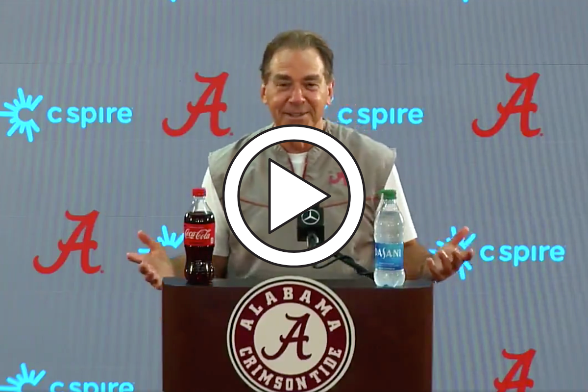 "Nick Saban Responds to Lane Kiffin's ""Elderly"" Comment"