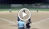 Softball Pitcher Hits Umpire play