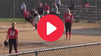 Softball Runner Flattens First Baseman, Gets Ejected