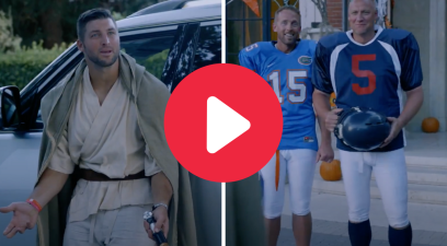 Tim Tebow Brought Halloween to Heisman House, And Everyone Dressed Up As Him