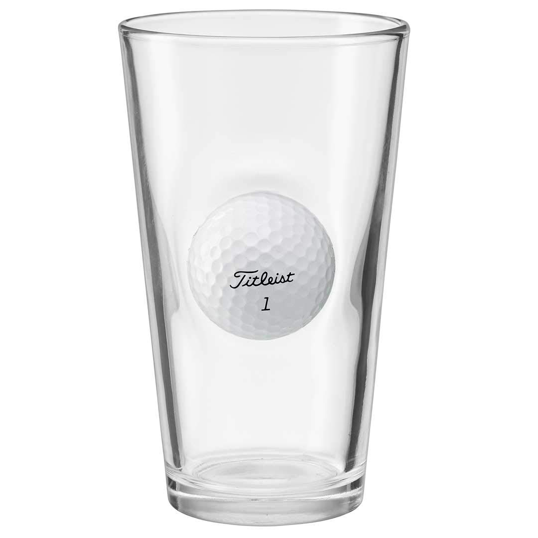 pint glass beer golf