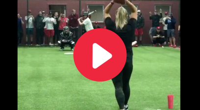 Olympic Softball Pitcher Makes Baseball Players Look Silly