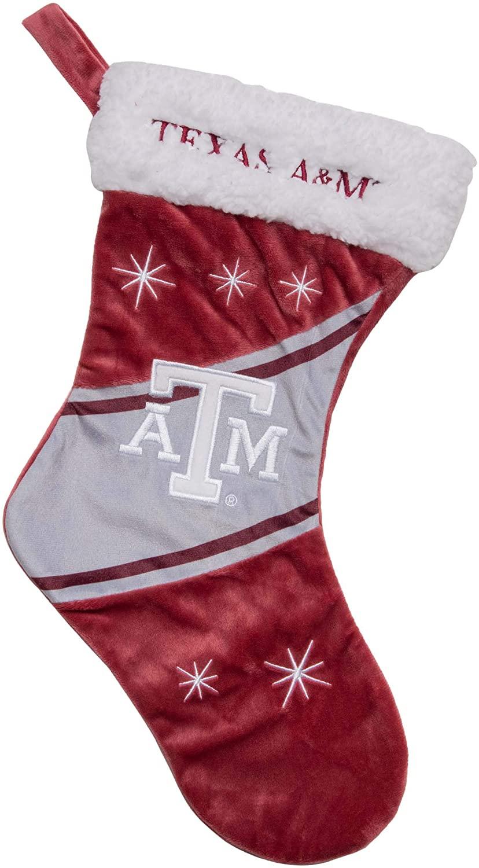 FOCO NCAA Texas A&M Aggies Team Logo High End Holiday StockingTeam Logo High End Holiday Stocking, Team Color, One Size (S10NC19HE)