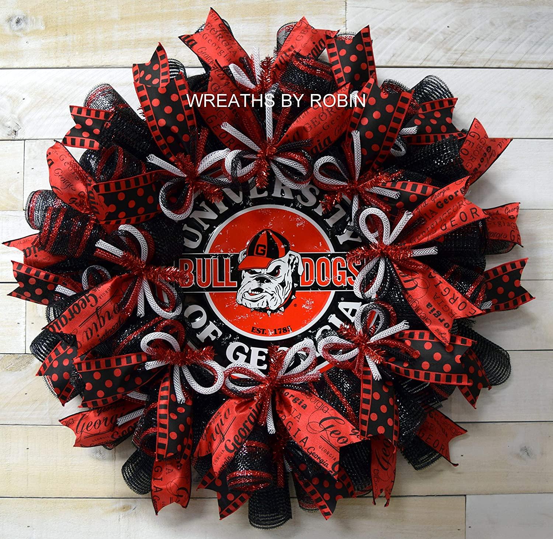 Georgia Sports Wreaths, Georgia College Wreaths, 2609
