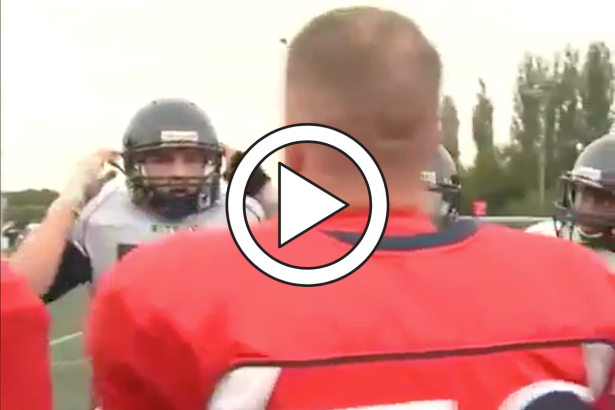 Military Dad Surprises Football Son By Dressing in Opponent's Uniform