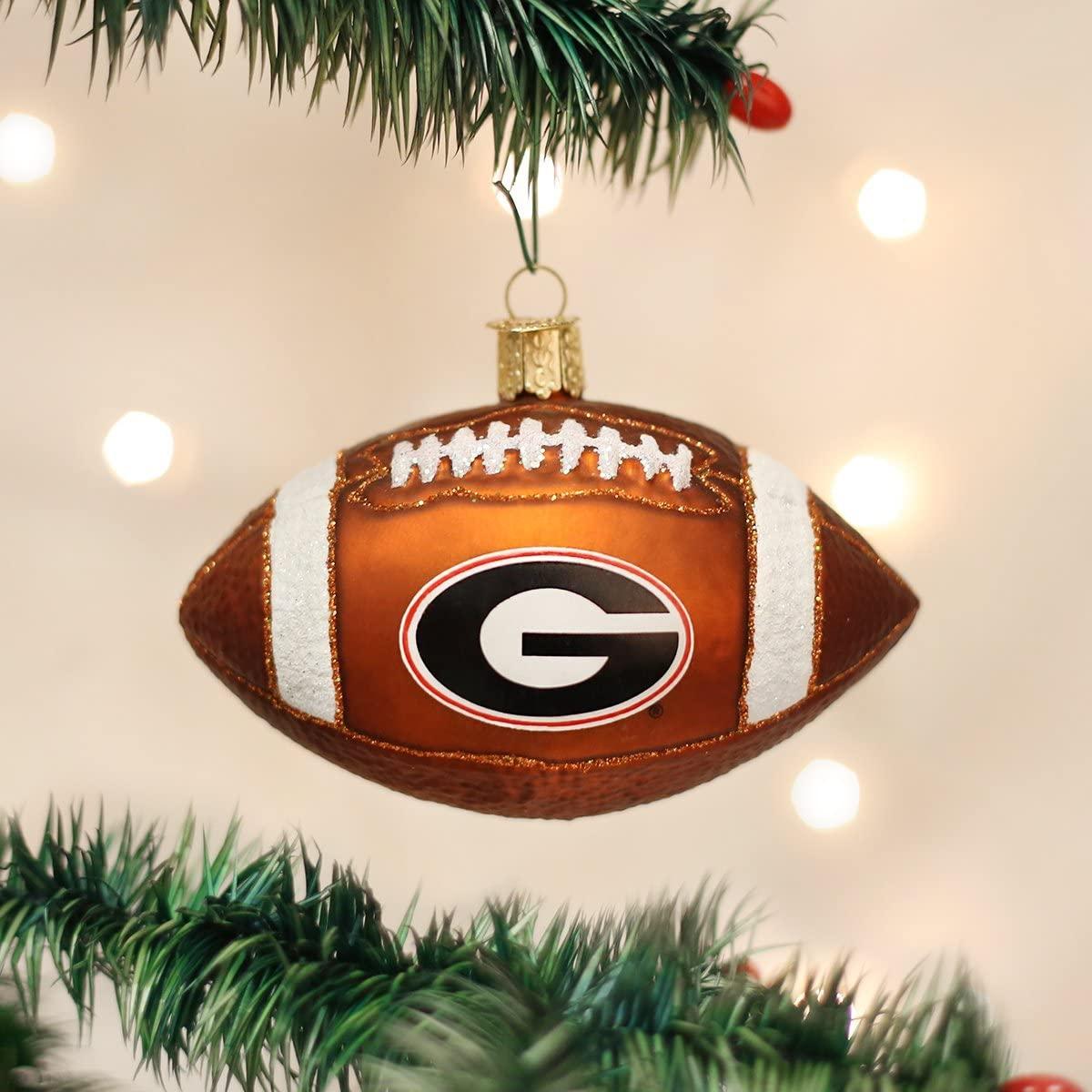 Georgia Bulldogs Glitter Ball Christmas Ornament