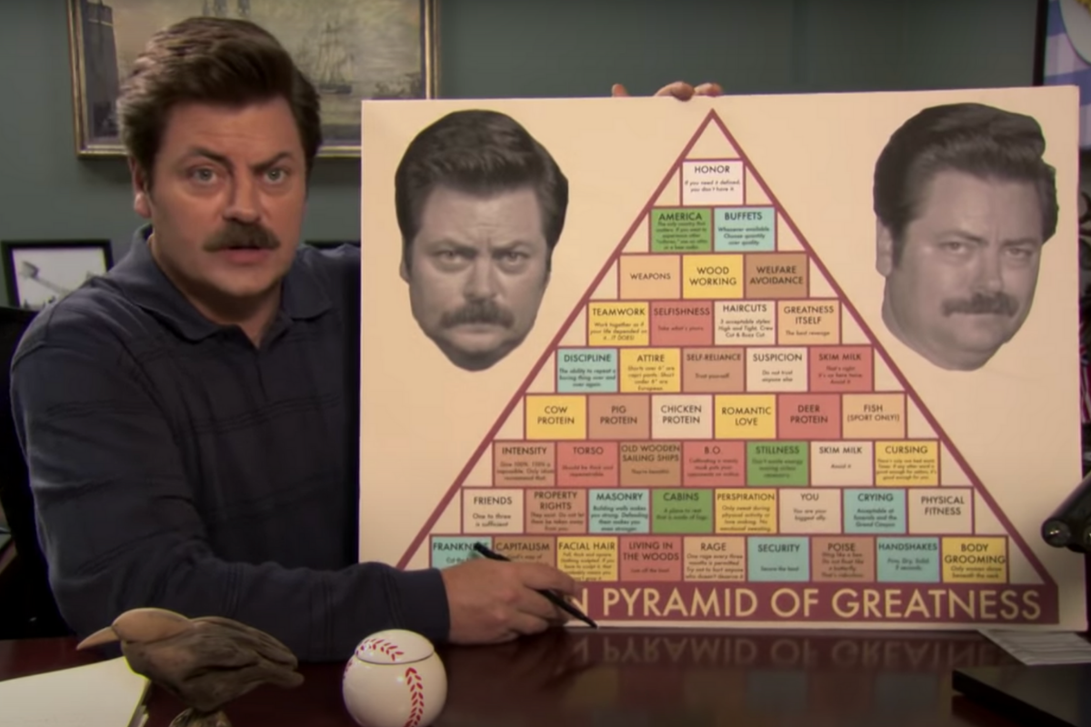 Ron Swanson's Pyramid of Greatness is Coaching Genius