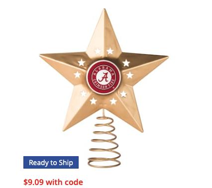 Alabama Crimson Tide Gold Tree Topper