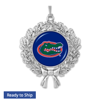 Florida Gators Wreath Logo Ornament