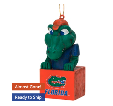 Florida Gators Tiki Mascot Ornament