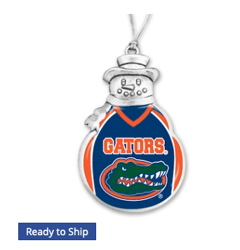 Florida Gators Snowman Football Jersey Ornament
