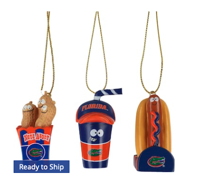 Florida Gators Snack Pack Ornament Set