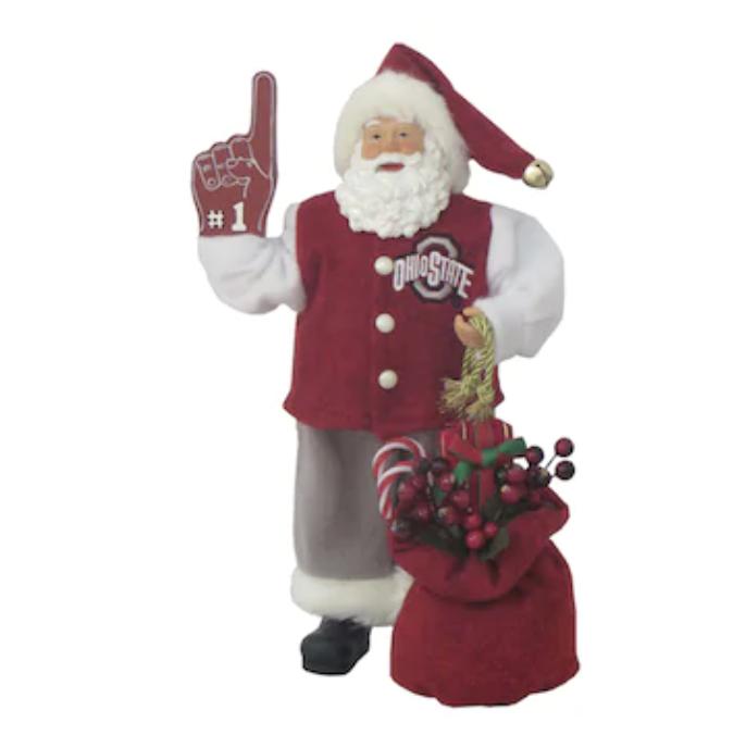 Ohio State Buckeyes 12'' #1 Santa Claus Figurine