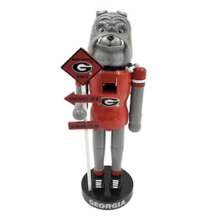 Georgia Bulldogs 12'' Rivalry Nutcracker - Red/Black