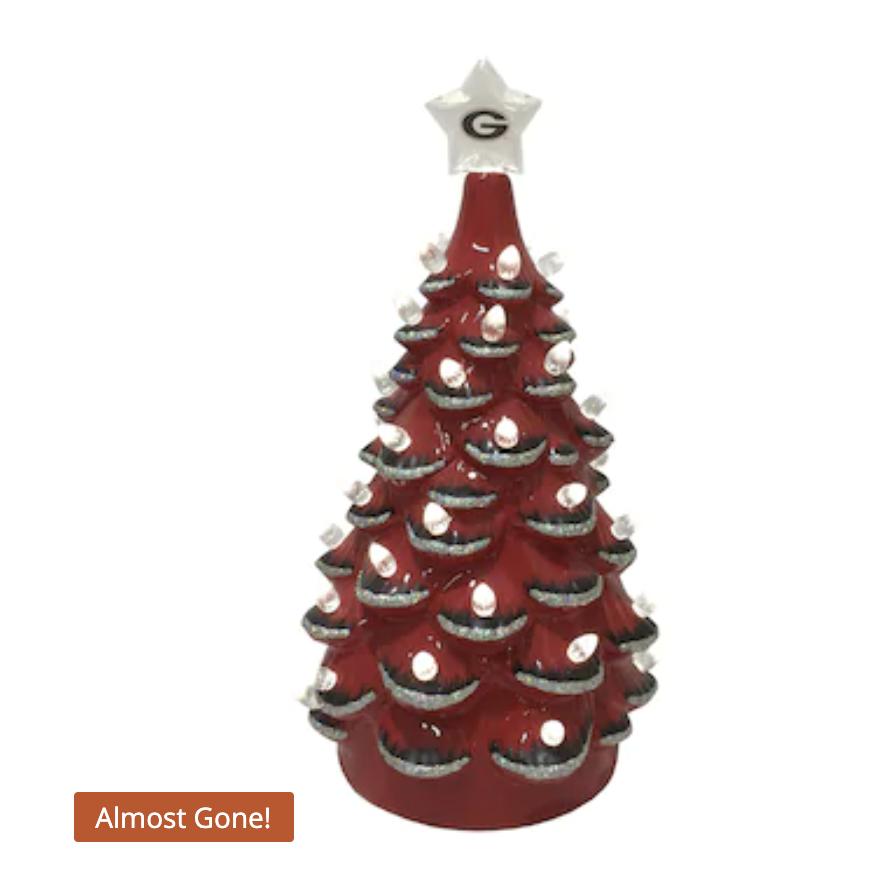 Georgia Bulldogs 14'' Ceramic Tree - Red/Black