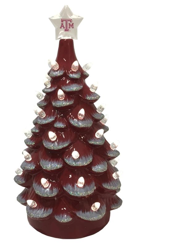 Texas A&M Aggies 14'' Ceramic Tree - Maroon