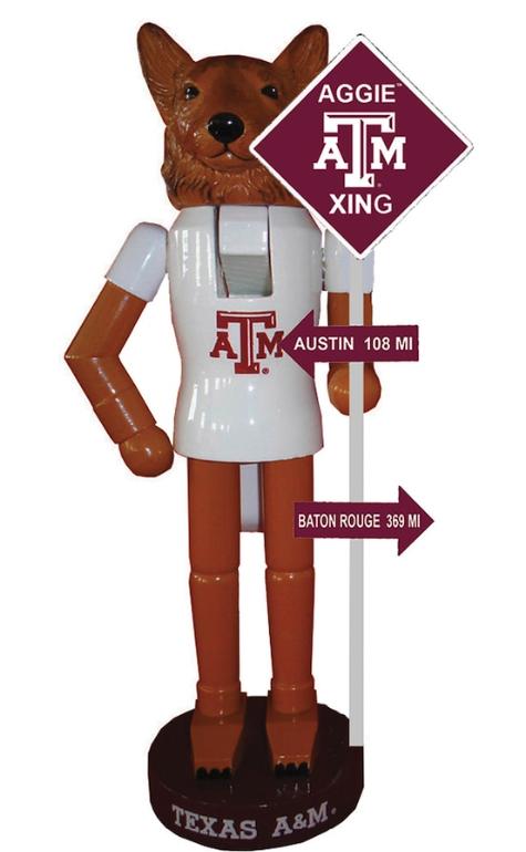 Texas A&M Aggies 12'' Rivalry Nutcracker - Maroon/White