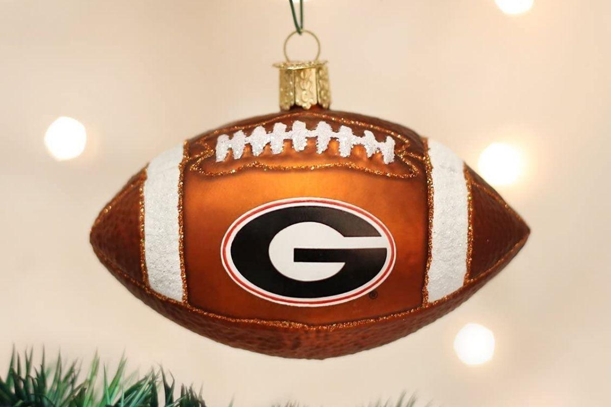 georgia bulldogs christmas ornament
