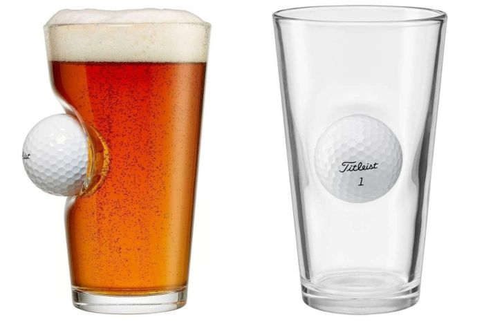 The BenShot Golf Ball Beer Glass Is Perfect for Sports Bars and Golfers