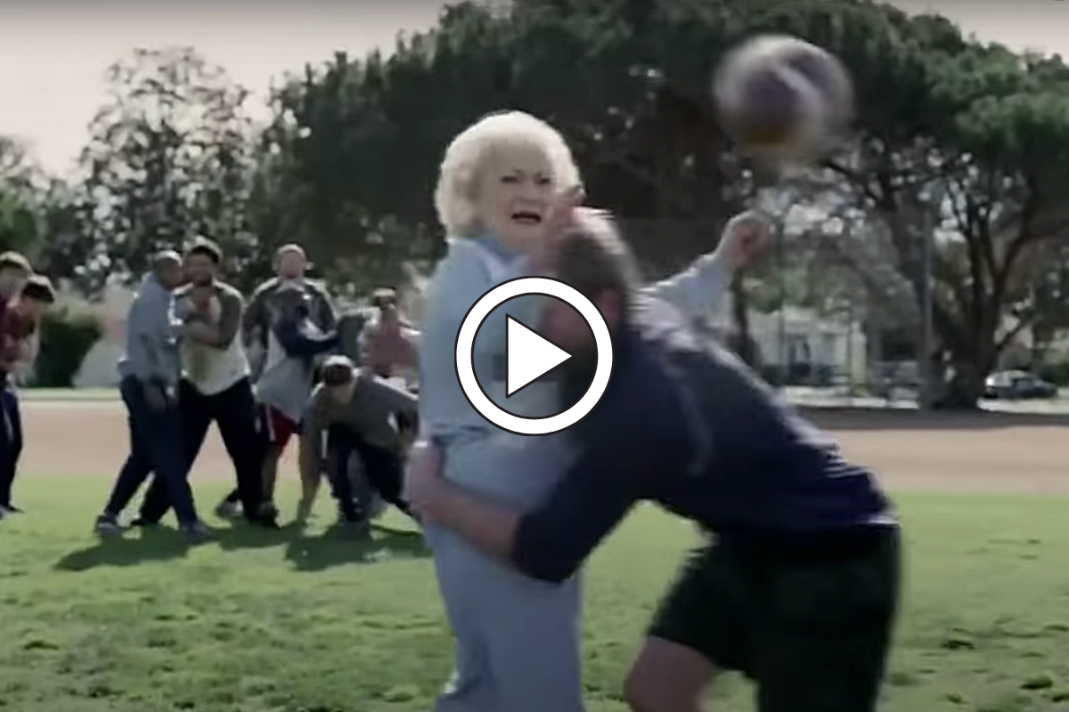 Betty White Playing Tackle Football Never Stops Being Funny