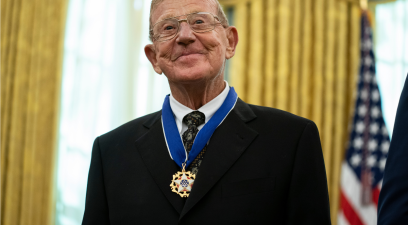 Lou Holtz Receives Presidential Medal of Freedom from President Trump