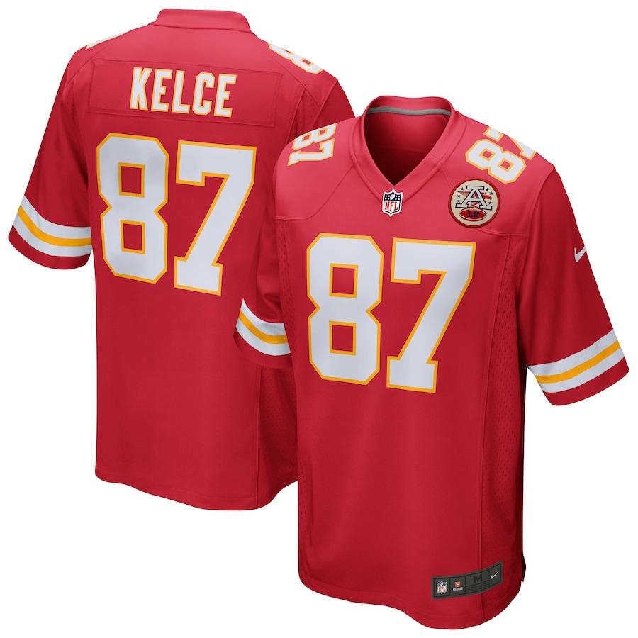 Men's Kansas City Chiefs Travis Kelce Nike Red Game Jersey
