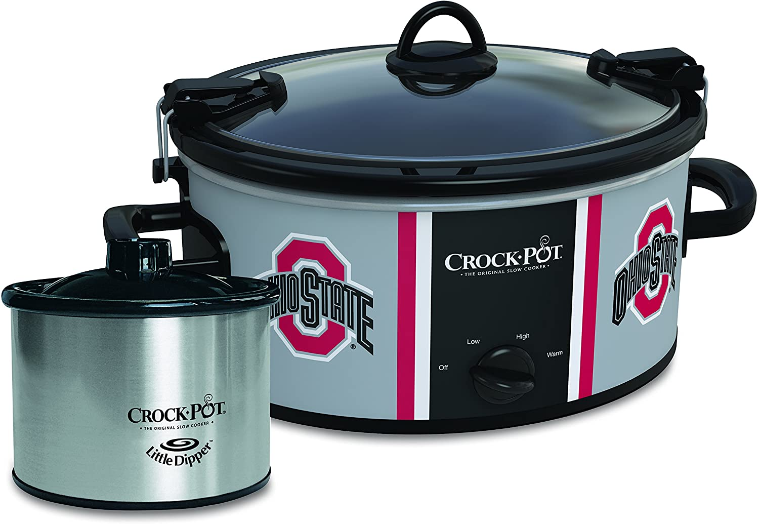 Ohio State Buckeyes Collegiate Crock-Pot Cook & Carry Slow Cooker with Bonus 16-ounce Little Dipper Food Warmer