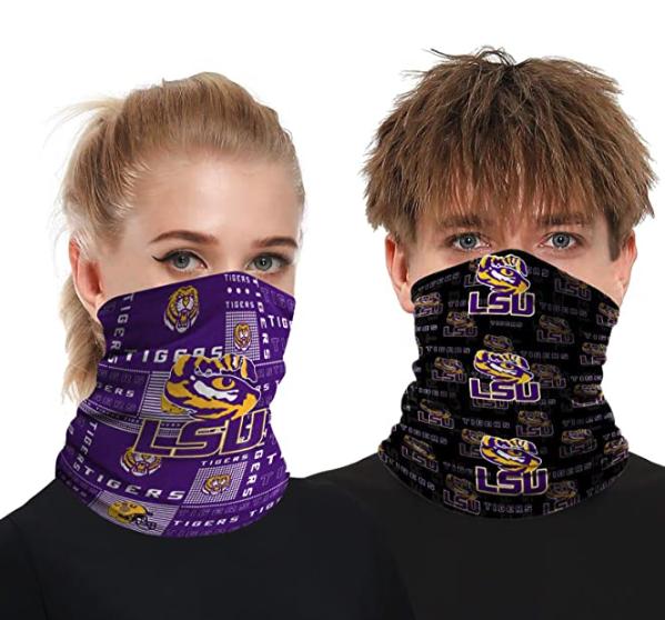 2 Pcs Neck Gaiter Face Mask Scarf Breathable Sun Protection Bandana Reusable Outdoor Sports Headwear for Men and Women