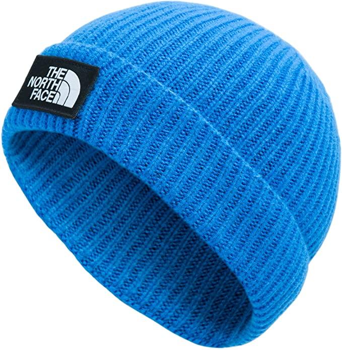 The North Face TNF Logo Box Cuffed Beanie, Clear Lake Blue, OS-REG
