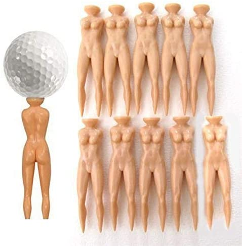 VONOTO Golf Tees, Golf Ball Nail, 20PCS Sporting EVC Novelty Plastic Nude Lady Golf Tees Model Beauty Ball Nail