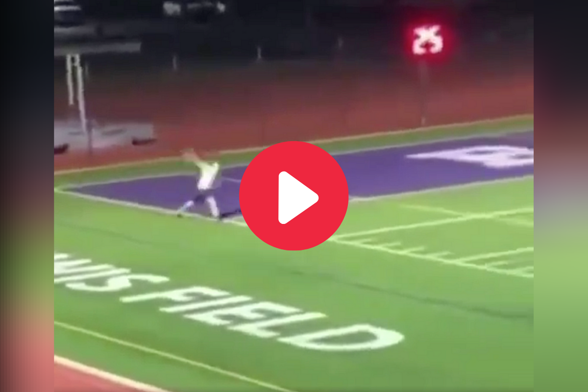 HS Baseball Player Launches 110-Yard Toss on Football Field