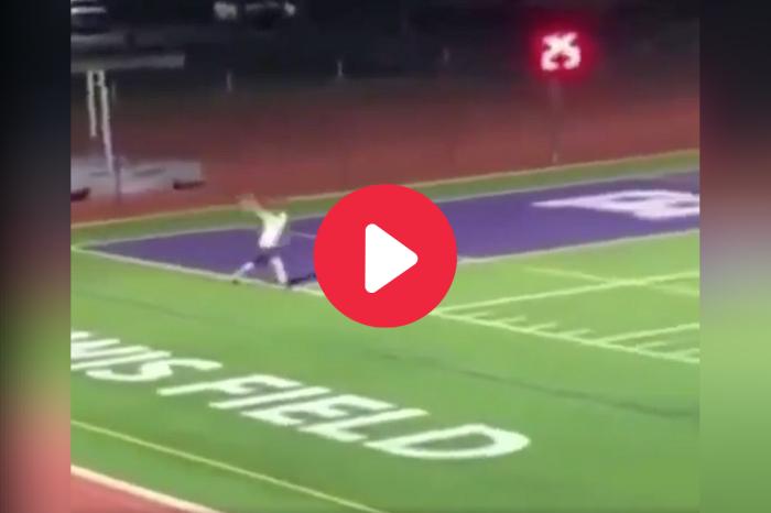 HS Baseball Player Launches 110-Yard Toss on Football Field