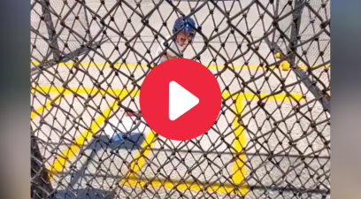 Crying Kid's Batting Cage Outburst Gets Him Pegged By Machine