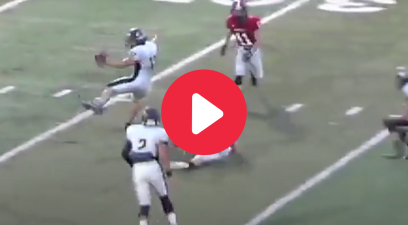 HS Player Kicks Ball to Teammate for Incredible Interception