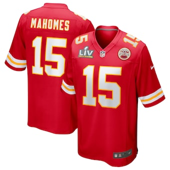 Men's Kansas City Chiefs Patrick Mahomes Nike Red Super Bowl LV Bound Game Jersey