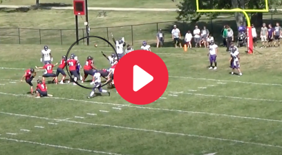 Offensive Lineman Catches Blocked Kick, Runs It In For Score