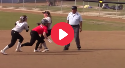 Softball Coach Ejected After Controversial Pickle Call