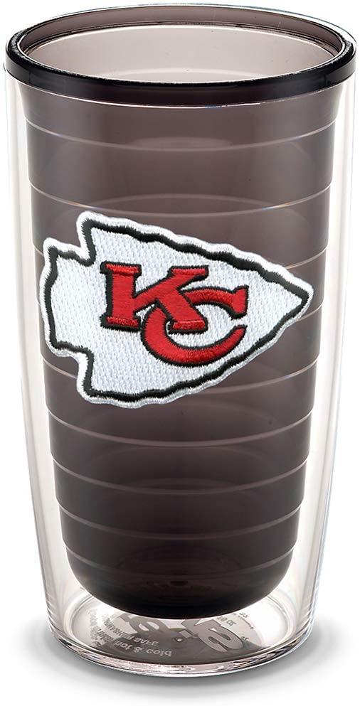 Tervis NFL Kansas City Chiefs Emblem Individual Tumbler, 16 oz, Quartz -
