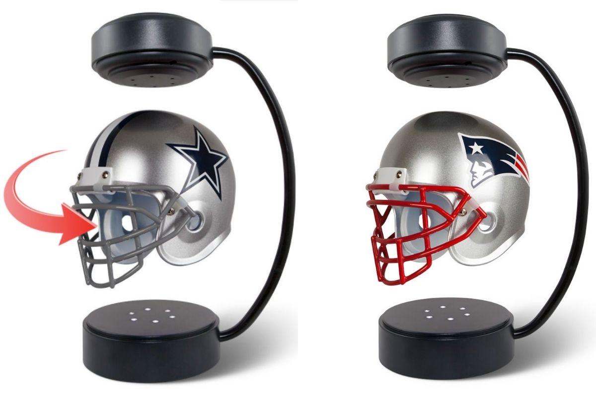 levitating football helmet