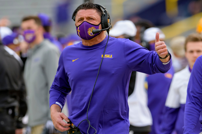 Ed Orgeron Inks Louisiana's No. 1 WR for Next Year