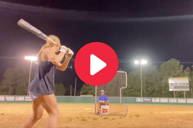 Softball Star Crushes Nonstop Home Runs Like a Robot
