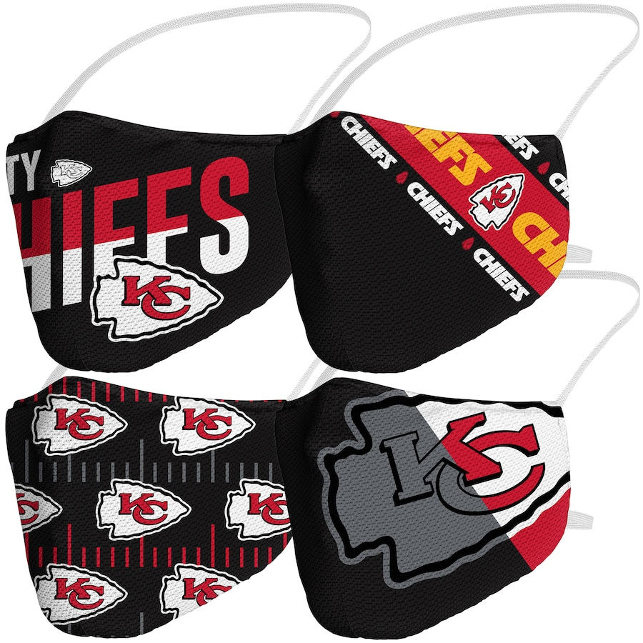 Kansas City Chiefs Fanatics Branded Adult Variety Face Covering 4-Pack