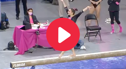 Florida Gymnast's Perfect 10 Beam Routine Deserves Endless Applause
