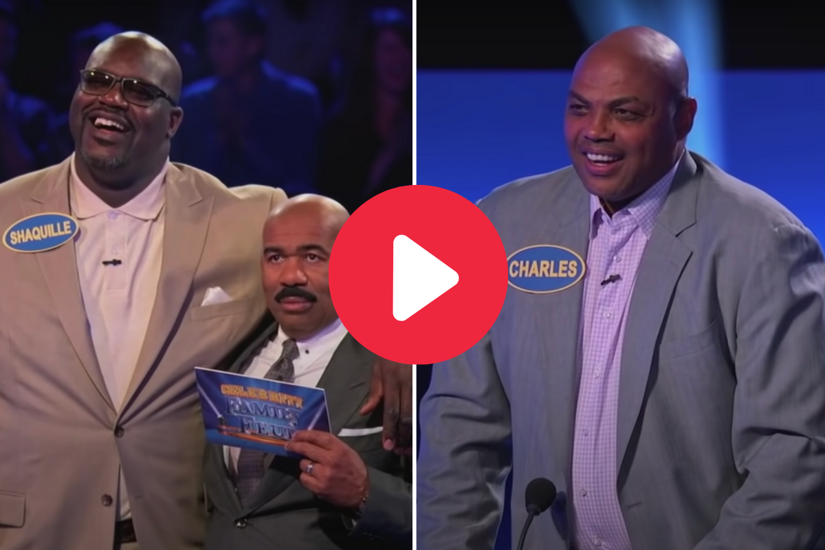 "Shaq & Charles Barkley on ""Celebrity Family Feud"" is Pure Comedy"