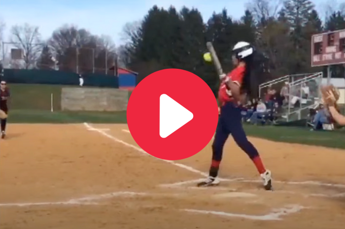 "Softball Player's ""Behind-The-Back"" Bunt is the Greatest Ever"