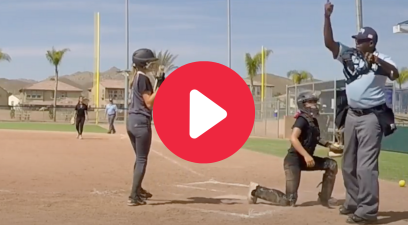 Softball Pitcher Drills Umpire & Gets Tossed Immediately (Along With Her Catcher)